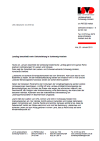 LSVD PI zum Landtag, 23.1.2013 (Download)