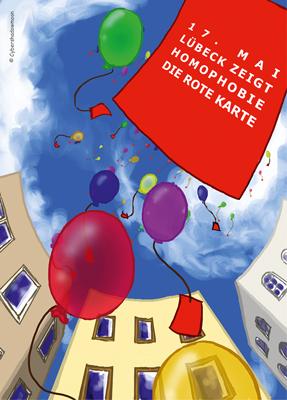 17. Mai 2014: Lübeck zeigt Homophobie die Rote Karte