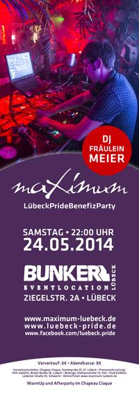 24. Mai: maximum - LübeckPrideBenefizParty